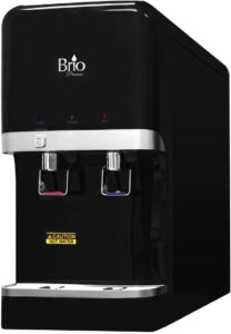 Bottleless Countertop Water Dispenser w/ 2 stage EZ Change Filtration System by Brio and Magic Mountain Water Products Black