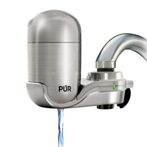 PUR FM-4000B Stainless Steel Faucet Mount Water Filtration
