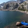 Research raft on Spider Lake, WY