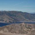 SkyTEM electromagnetic and magnetic survey flying over Spirit Lake, near Mt. St. Helens, Washington